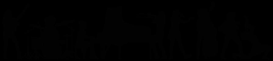 Musikerinnen mit Instrumenten Logo